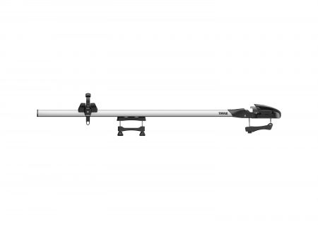 Thule's thru-axle fork mount carrier fits the complete range of thru-axle diameters without needing adapters and has universal roof rack system compatibility